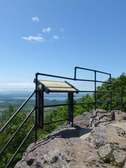 The same view from the Mount Philo outlook, June 2018.