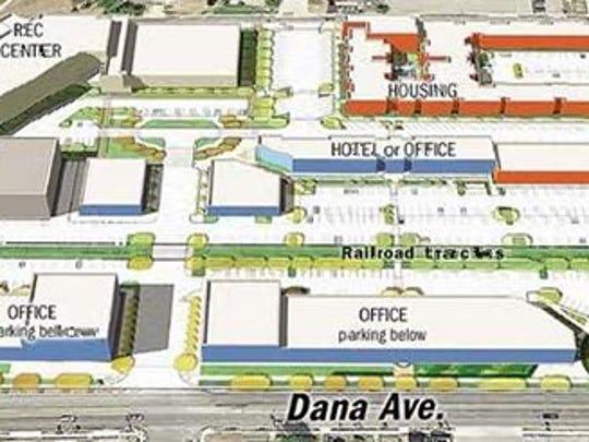 Site plan for the $54 million University Station development