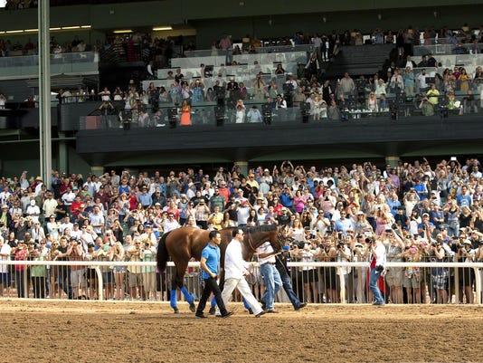 Santa Anita American Pharoah Horse Racing