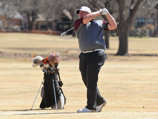 Brownwood's Jaryn Pruitt takes a shot during the Wylie Invitational at the Abilene Country Club's Fairway Course on  March 7.