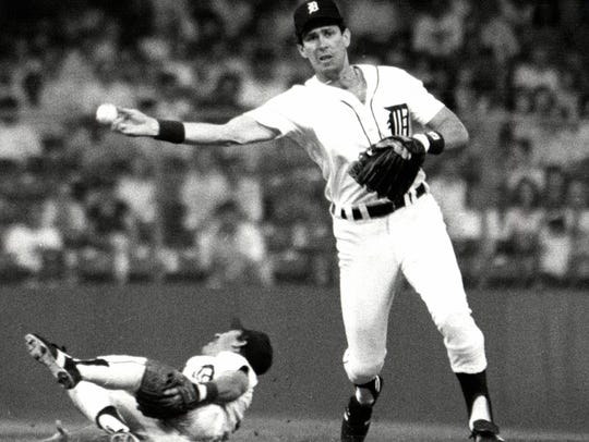 Tigers shortstop Alan Trammell hit .285 with 185 homers