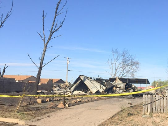Not much was left of two houses after the fire.