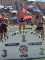 Central High School's Bailey Kinney won the Division