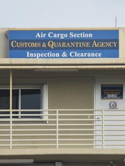 Guam Customs and Quarantine Agency officers haven't made as many drug seizures at the airport now that flights have been canceled but officers remain watchful.