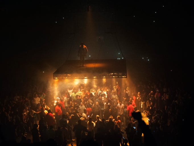 Kanye West performs as part of his Saint Pablo tour