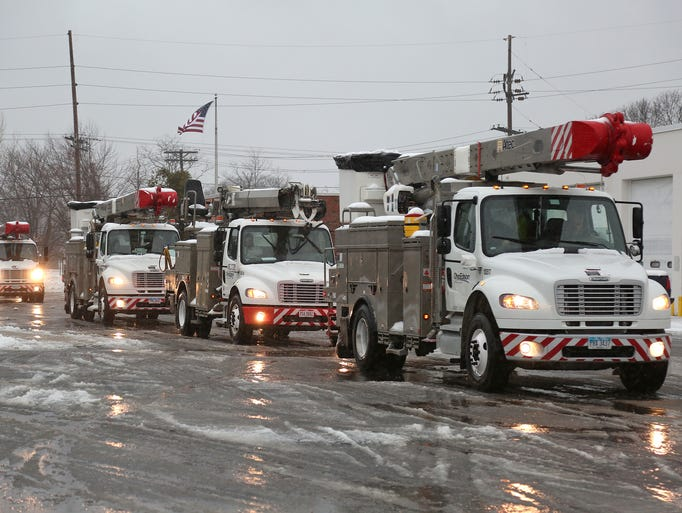 Ohio Energy Trucks arrive at the Jersey Central Power