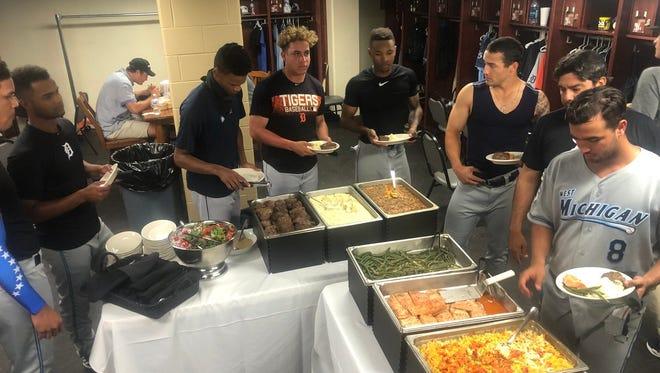 The West Michigan Whitecaps enjoy a Ruth's Chris dinner Monday, courtesy of Yu Darvish.