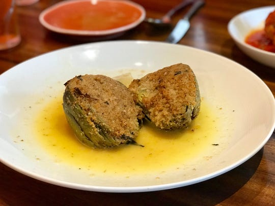 Stuffed artichokes from Bella Vita.