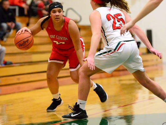 Delayna Laurel handles the ball Friday for Port Clinton.