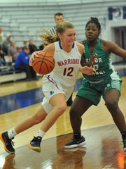 Natalie Stuck (12) scored 18 points for Whiteland on Tuesday night.