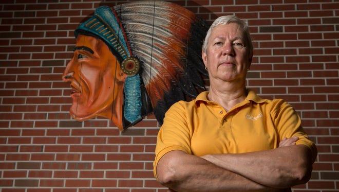 Pocomoke Girls Basketball Coach, Gail Gladding, poses for a photo at Pocomoke High School on Thursday, July 14, 2016.