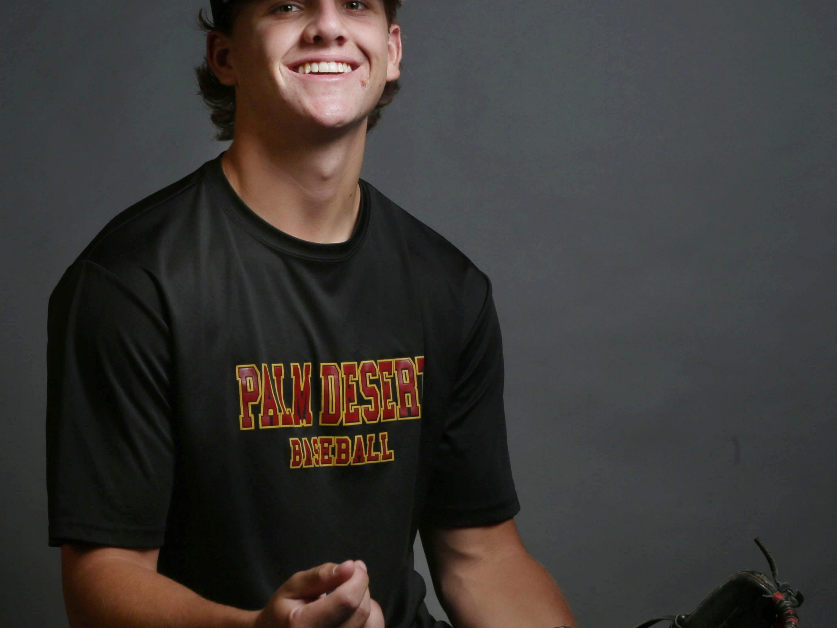 Recent Palm Desert grad Travis Moniot, a four-year letterman for the Aztecs, was named The Desert Sun's baseball player of the year for the 2015 season after taking his team to the CIF SS quarterfinals.
