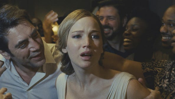 "Jennifer Lawrence in a scene from ""mother!"""