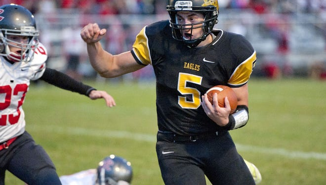 Will Kirkpatrick runs for one of his five rushing touchdowns on Friday night.