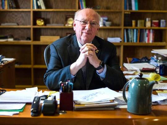 University of Michigan Dearborn Chancellor Daniel Little in his office on Wednesday, February 15, 2017 at the University of Michigan - Dearborn.