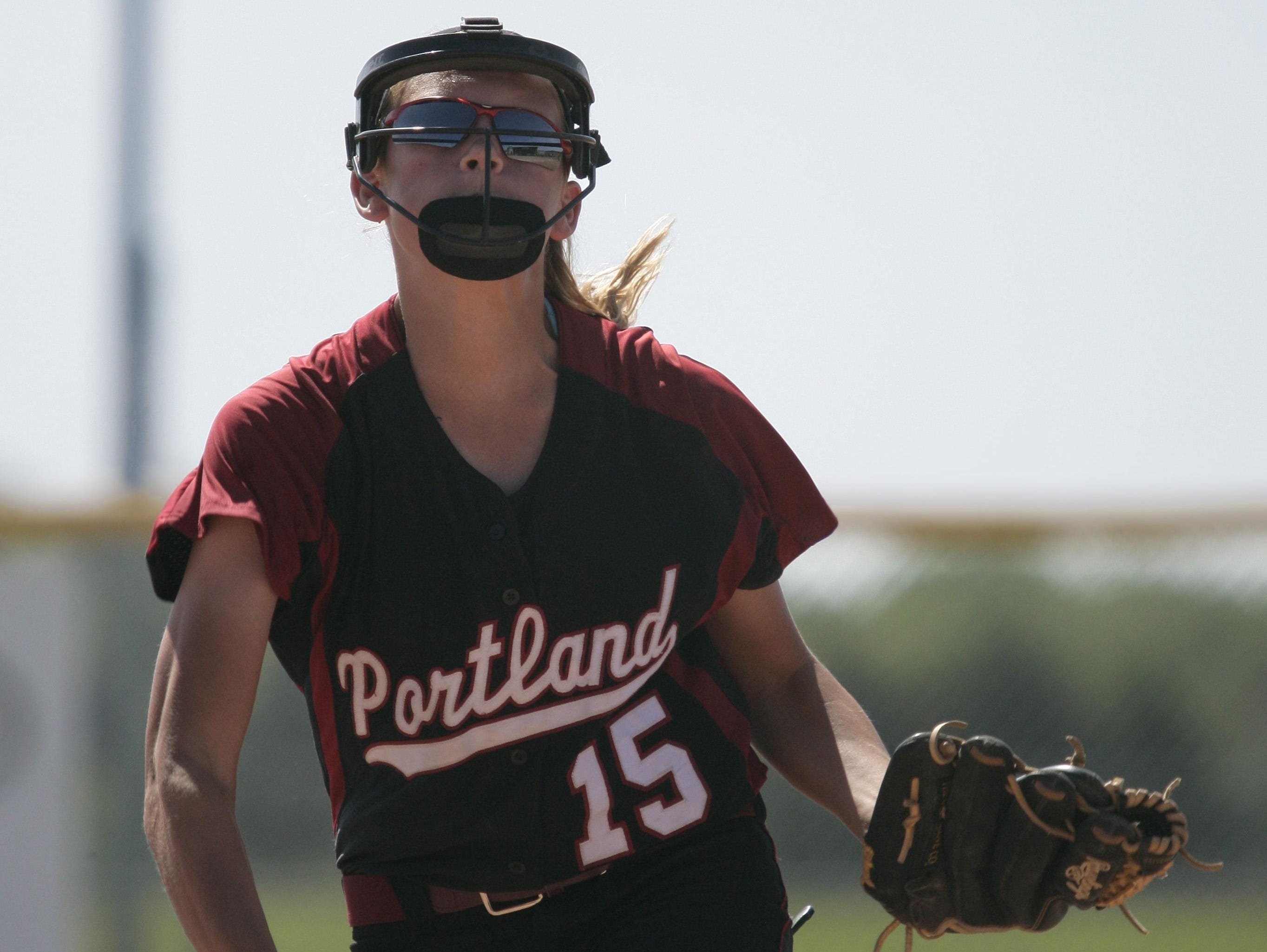 Freshman Abby Grys won 11 games in the circle during the regular season for Portland, which will face Carleton Airport in a Division 2 quarterfinal.