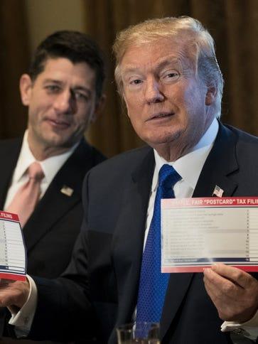 House Speaker Paul Ryan and President Trump on Nov.