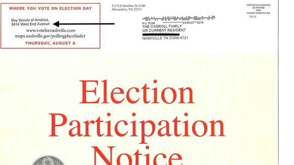 At least one of the Nashville voting notices paid for by Citizen Super PAC included the wrong address.