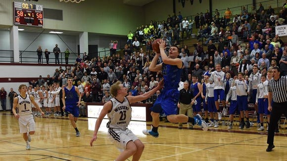 Keegan Van Egdom of Sioux Falls Christian moments before