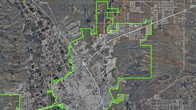 Las Cruces city limits