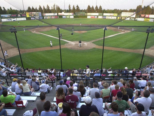 Baseball fans fill the seats at Dick Putz Field in this file photo.