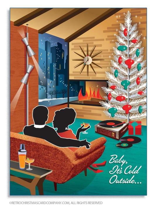 Nostalgic Cards Make It A Mid Century Modern Christmas