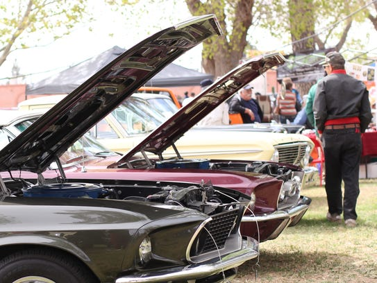 Lines of classic cars filled Courthouse Park Saturday