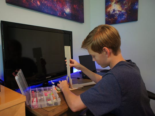 William Briggs working on The Discovery Education 3M Young Scientist Challenge, a premier science competition for grades five through eight.