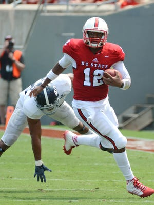 N.C. State quarterback Jacoby Brissett has thrown just three interceptions this season.