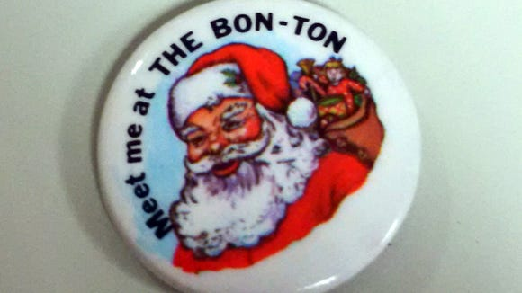 Jean Doll of Manchester Township visited the York Daily Record/Sunday News offices in 2015 to share a Christmas pin from The Bon-Ton, which a reader had asked about.