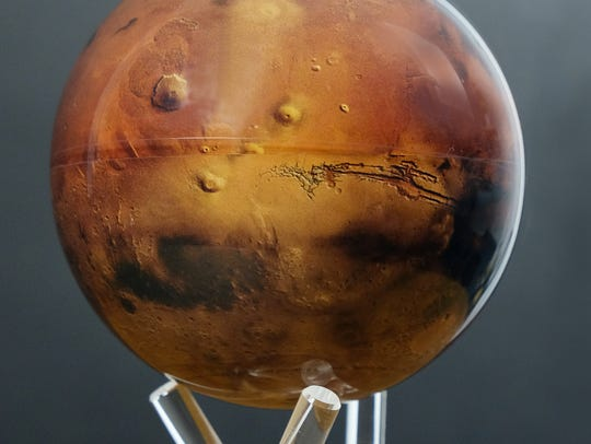 Limited-edition Mars MOVA globes designed to replicate