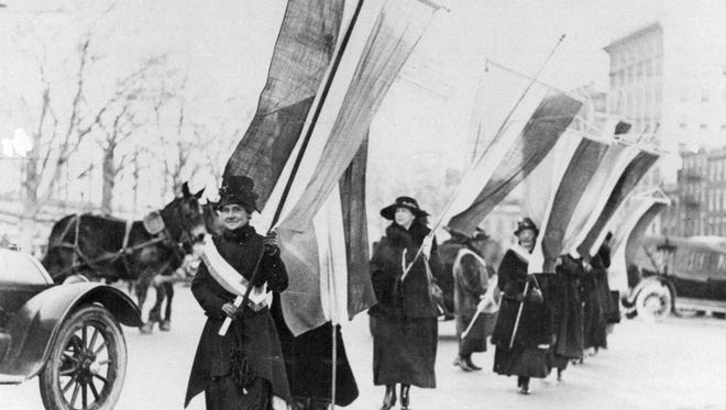 Women's voting rights march