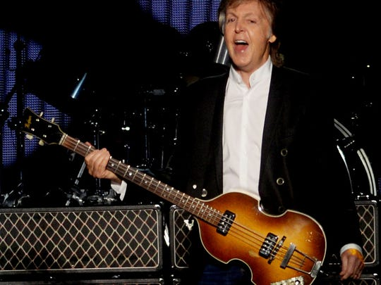 Paul McCartney during the One on One tour at the CenturyLink