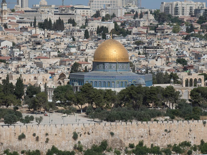 A view of the Al-Aqsa compound (Temple Mount) in Jerusalem's