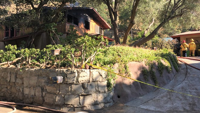 This was the scene after a fire was extinguished in a home Wednesday in the 6400 block of Clear Springs Road in Santa Susana Knolls.