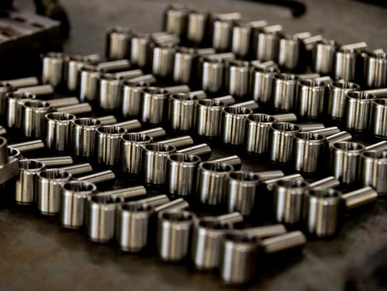 Completed 4-bar rod ends that were manufactured at