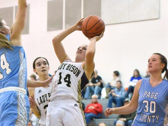 Page Co. at Buffalo Gap girls basketball