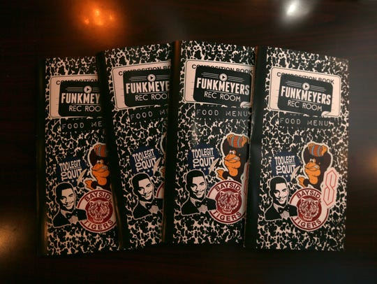 Funkmeyers menus are fashioned after classic composition
