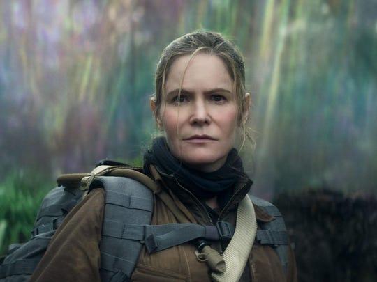"""Jennifer Jason Leigh in a scene from """"Annihilation."""""""