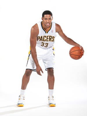 Danny Granger poses for a photo during Indiana Pacers Media Day.