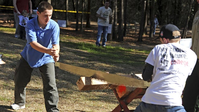 Pensacola State College/University of Florida Milton will present its 27th annual Forestry Conclave Lumberjack Festival and plant sale on Friday and Saturday. On Saturday, enjoy competitions such as knife-throwing, cross-cut sawing, compass and pacing, ax throw and more.