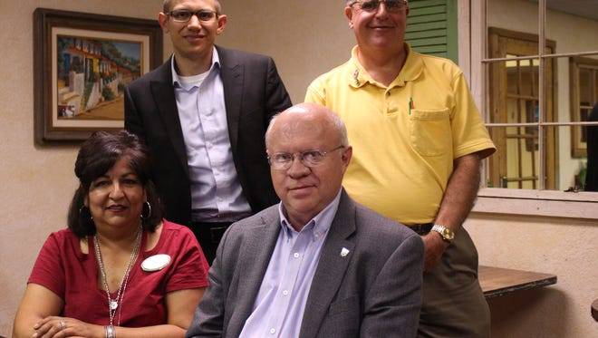 From left, Secretary Ruth Perry, President-Elect Greg Morrow, Board Member Ted Burr and President Larry Donigan make up a portion of the Deming Rotary Club Board. Rotary is a community based charity organization focused on integrity and service.