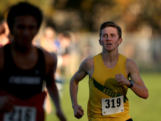 The 3A/2A/1A-SD3 District 3 boys cross country championships at Bush's Pasture Park in Salem on Friday, Oct. 27, 2017.