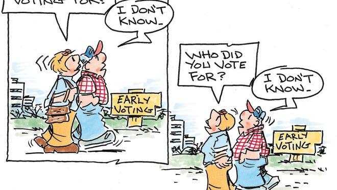 Charlie Daniel's editorial cartoon for Friday, Oct. 21, 2016.