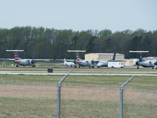 A view of the runway at Salisbury-Ocean City Wicomico