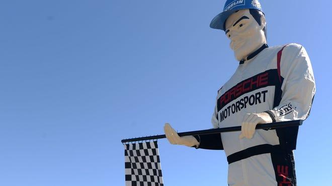 Porsche unveils new look for Muffler Man landmark, site of the Porsche Experience Center
