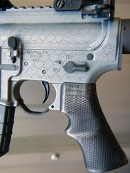 This file photo from 2014 in Springfield Township shows an AR-15 rifle that has an American Built Arms Company P*grip installed.