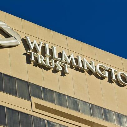 The Wilmington Trust building in Wilmington is shown.