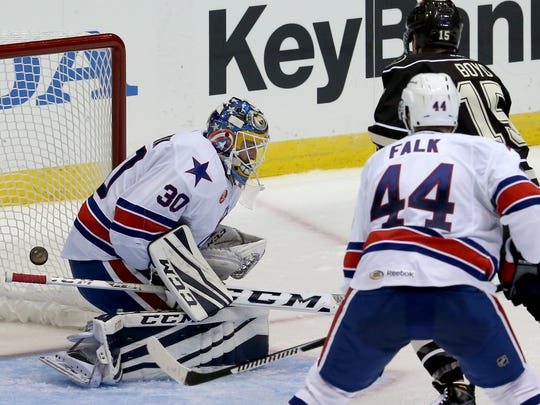 Amerks goal keeper Linus Ullmark has started 14 of team's 19 games, posting a record of 6-7-1. He has a 2.99 goals against average and .909 save percentage, not bad. But organization is looking for a better block of games from Swedish prospect.