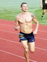 Charlie Johnson running strong in the Breakfast on